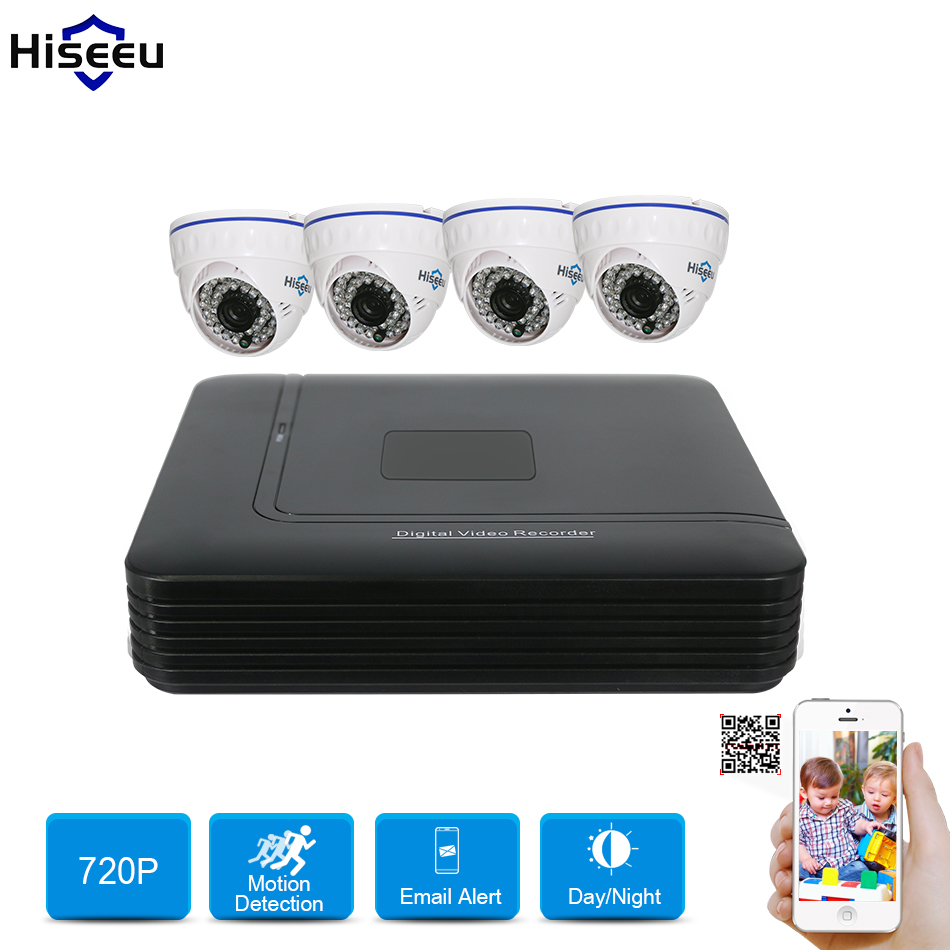 2 4CH CCTV Camera DVR System 1200TVL AHD 720P Kit CCTV DVR HVR NVR 5 in