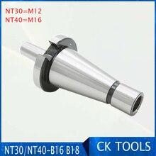 Ücretsiz gemi matkap chuck arbor DIN2080 NT30 to B16 NT30 B16 ISO30 ISO40 NT40 B18 matkap Chuck Arbors SK30 B16