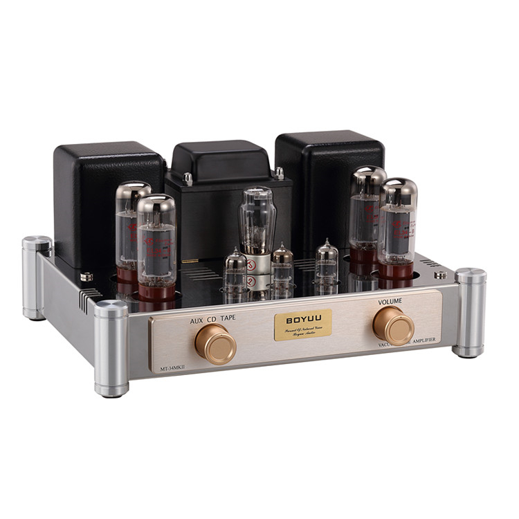 Music hall Latest Stereo EL34 Vacuum Tube Amplifier Class A HiFi Push-pull Integrated Power Amp 2*35W music hall latest 12ax7 vacuum tube pre amplifier hifi stereo valve pre amp audio processor pure handmade