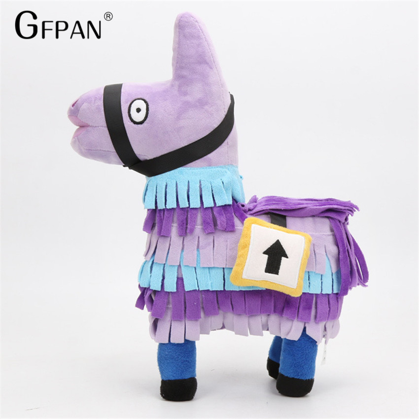 35CM Magic Doll Stuffed Alpaca Rainbow Horse Hot Game Fortnite Troll Stash Llama Cute Plush Toy Christmas Gift Baby Brinquedos