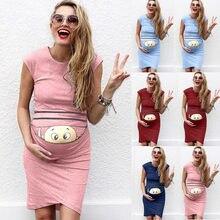 6c0af0d1df6a3 Summer Dresses For Pregnant Women maternity dresses Baby Print Pregnant  Maternity Maternity Props Bodycon Casual Dresses