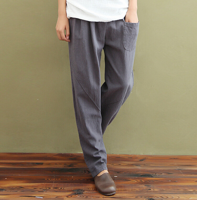 casual linen pants page 2 - versace