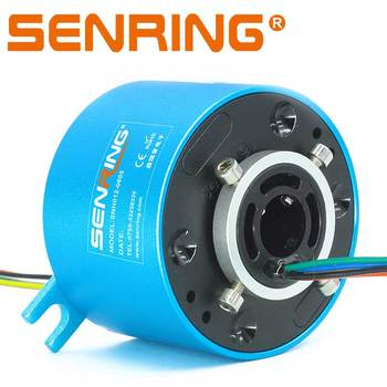 5A Electronic Slip Ring with Bore 12.7mm OD 56mm Rotary Union Precious Gold Contacting Material