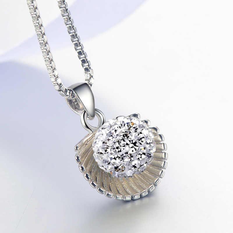 100% 925 sterling silver mody Shambhala powłoki ladies'pendant naszyjniki biżuteria kobiet kobiet krótkie łańcuchy anty alergii