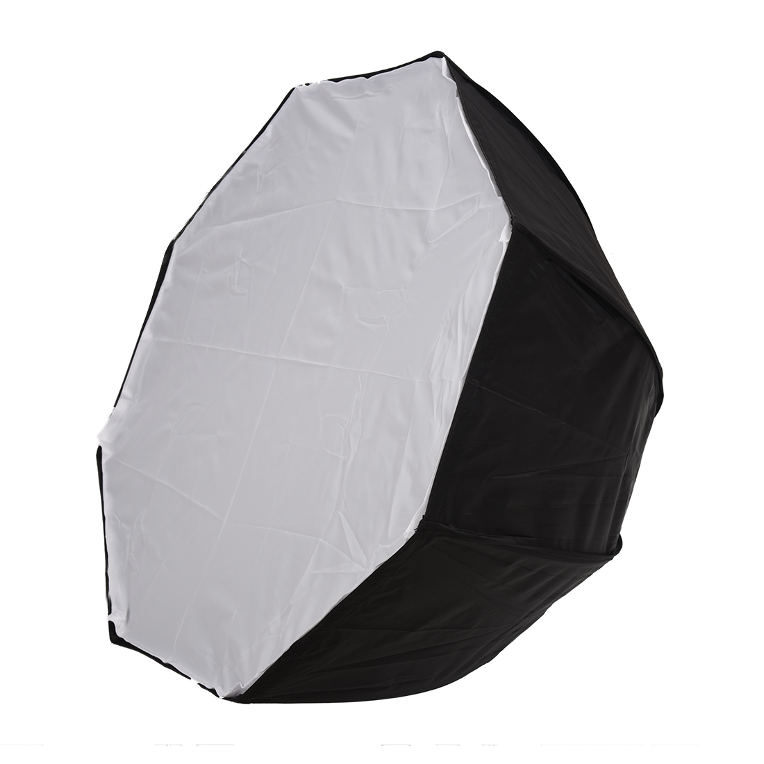80cm / 31.5in Octagon Umbrella Softbox Reflector Diffuser With Carbon Fiber Bracket For Speedlite Flash Light Silver Black