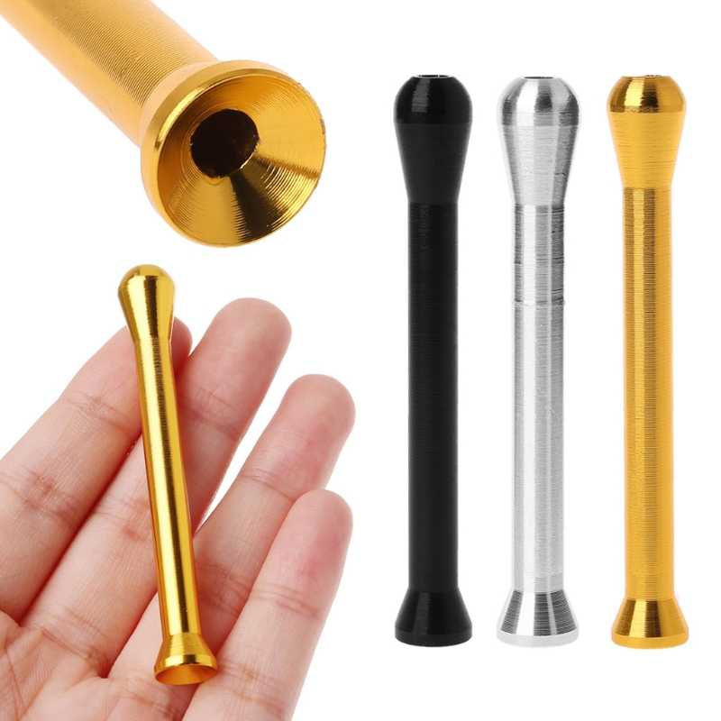 Alliage d'aluminium tabac à priser paille renifleur ronfleur Nasal fumer tuyau snoffer Nasal fumer accessoires