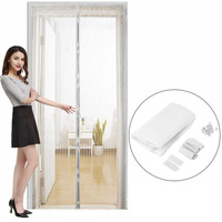 2Pcs/set Durable Anti Mosquito Insect Curtains Magnetic Mesh Net Hands Free Automatic Closing Door Screen Kitchen Curtains