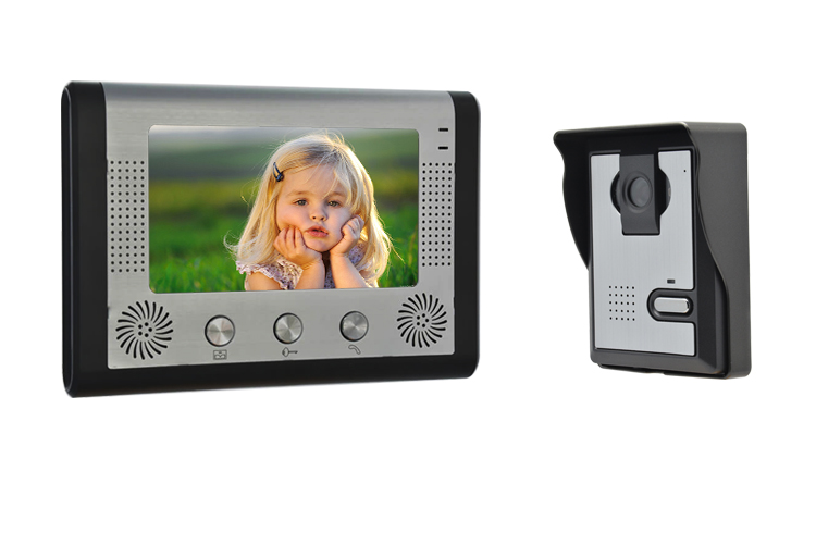 7 Inch Big LCD Monitor Rain-Proof Intercom Video Door Phone