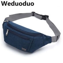 Weduoduo New waist bag for men fashion pack purse phone belt travel case mobile bum hip