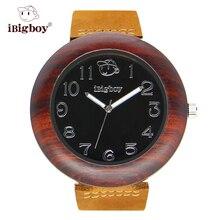 IBigboy Relojes Última Sandalia De Madera Rosewood Secoya Madera Relojes de Los Hombres Relojes de Las Mujeres Reloj de Pulsera IB-1611Da