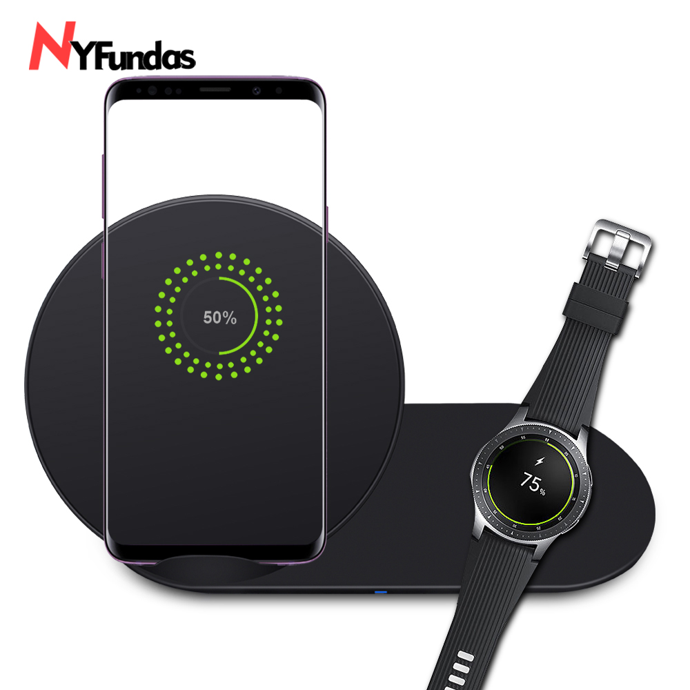 NYFundas wireless charger stand station for samsung watch charging for samsung galaxy note 9 8 s9 S8 plus samsung gear S2 S3 S4 samsung