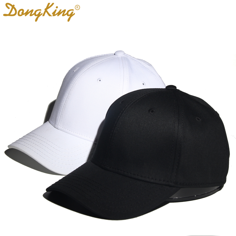 DongKing Flex Fitted   Cap   Solid Cotton   baseball     Caps   Elastic Sweat Band Original Classic Hats Sun Hat Curved Visor Normal Size