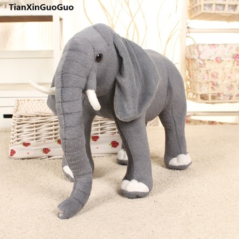 About 32x24cm lovely gray elephant plush toy cartoon elephant soft doll pillow birthday gift s0480 фото