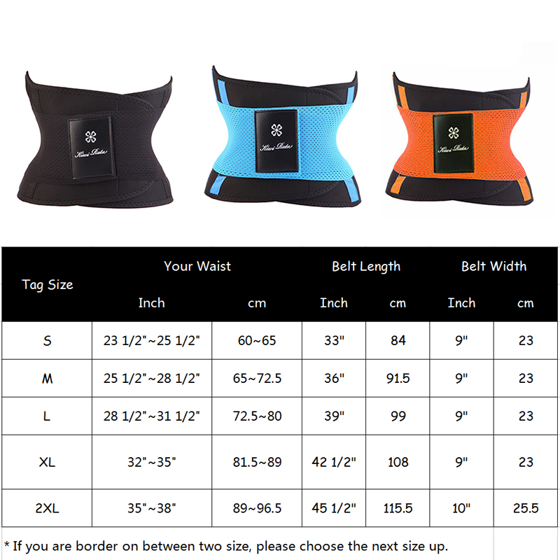 Fitness Belt Hot Body Shaper Waist Trainer Workout Shapewear Slimming