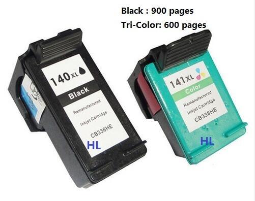 2pcs Compatible ink cartridge HP140XL HP141XL for Officejet J5783 6413 Deskjet D4263 4363 Photosmart C4283 4483