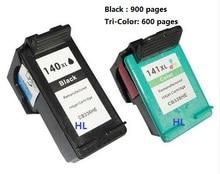 2 шт. совместимый картридж HP140XL HP141XL для Officejet J5783 6413 Deskjet D4263 4363 Photosmart C4283 4483 4583 5283 D5363