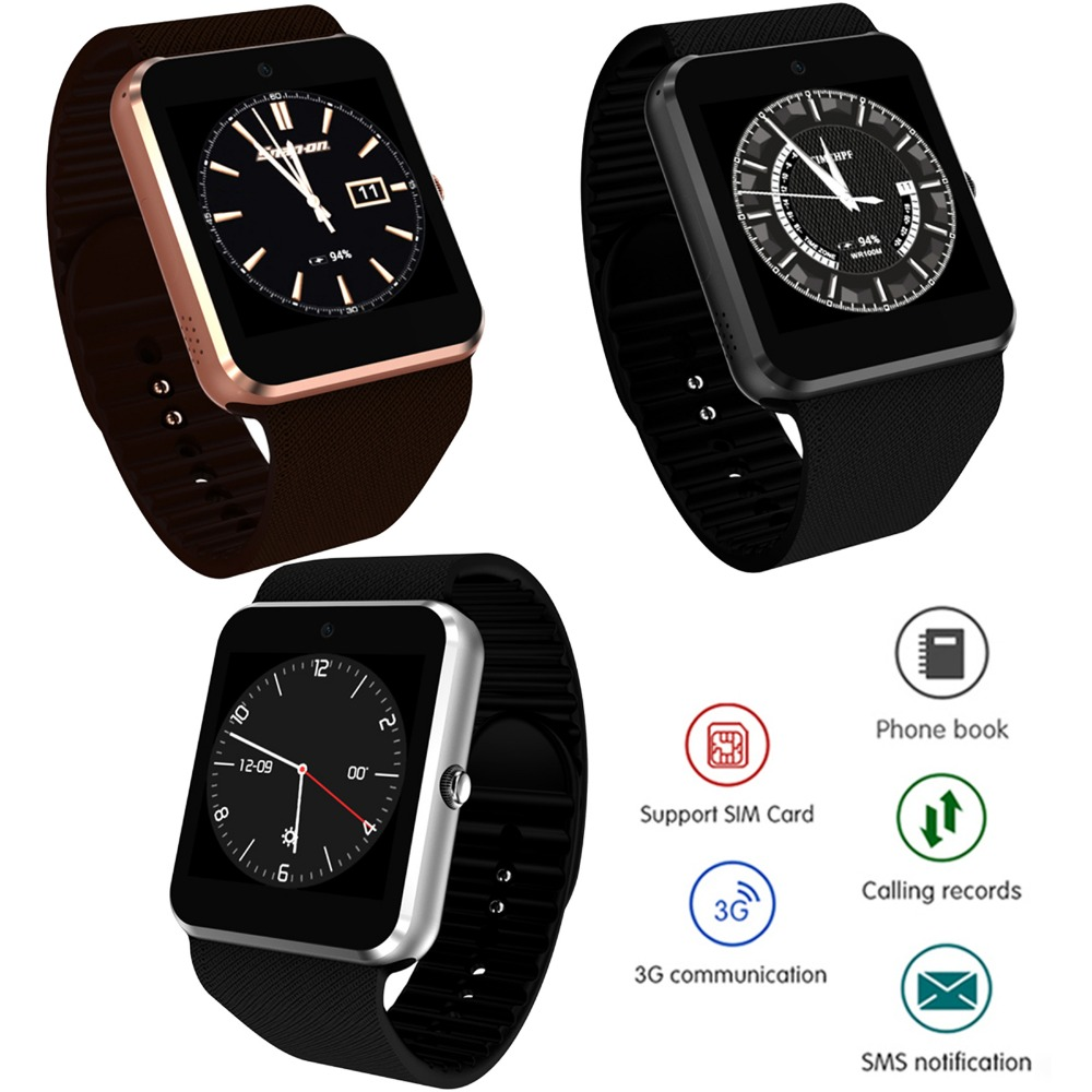 1.54 4GB Android Smart Wrist Watch Phone Support Bluetooth Nano SIM Card Wifi 3G Network bluetooth smart gv08 android