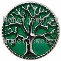 D00150 OEM, ODM ยินดีต้อนรับกด studs โลหะต้นไม้สำหรับสร้อยข้อมือ snap ผู้หญิงแฟชั่น diy สีเขียวต้นไม้เครื่องประดับ