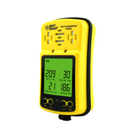 SMART SENSOR US Digital O2/H2S/CO/Combustible Air Meter 4 in 1 Oxygen Carbon Monoxide Hydrogen Sulfide Detector Tester Tool
