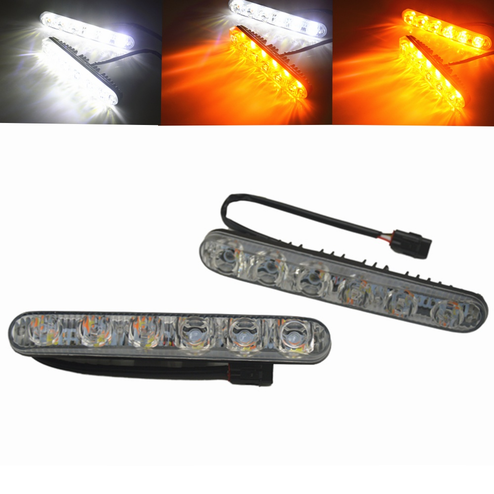 Car Headlight High Power High/Low Beam Aluminum Warning Driving Fog Lamp Auto Head LED Daytime Running Light Turn Signal dc12v h7 7 5w 5led led fog light high power car auto led xenon white daytime running light bulbs headlight head lights