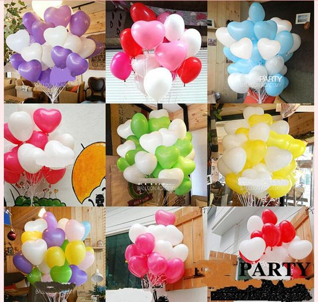New 8Inch Latex air balloon love heart balloons Thick globos wedding party wedding decoration aniversario baloon baloes