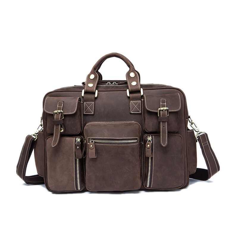 67d351ea046a ... Для мужчин Подлинная кожаные сумочки Винтаж чистый ручной Мужская  тотализаторов Мода Bolsa Feminina ноутбук сумки через ...