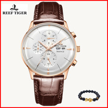 2019 Reef Tiger/RT Top Brand Luxury Automatic Watch Reloj Hombre Men Leather Fashion Waterproof Watches Relogio Masculino+gift