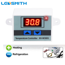 Digital LED Thermometer Temperature Controller AC110-220V Thermostat Incubator Control Relay 10A Microcomputer W3001
