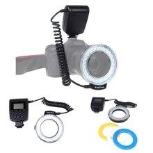 Топ предложения Макро светодиод Кольцевая вспышка для Canon Nikon Olympus Panasonic DSLR Камера