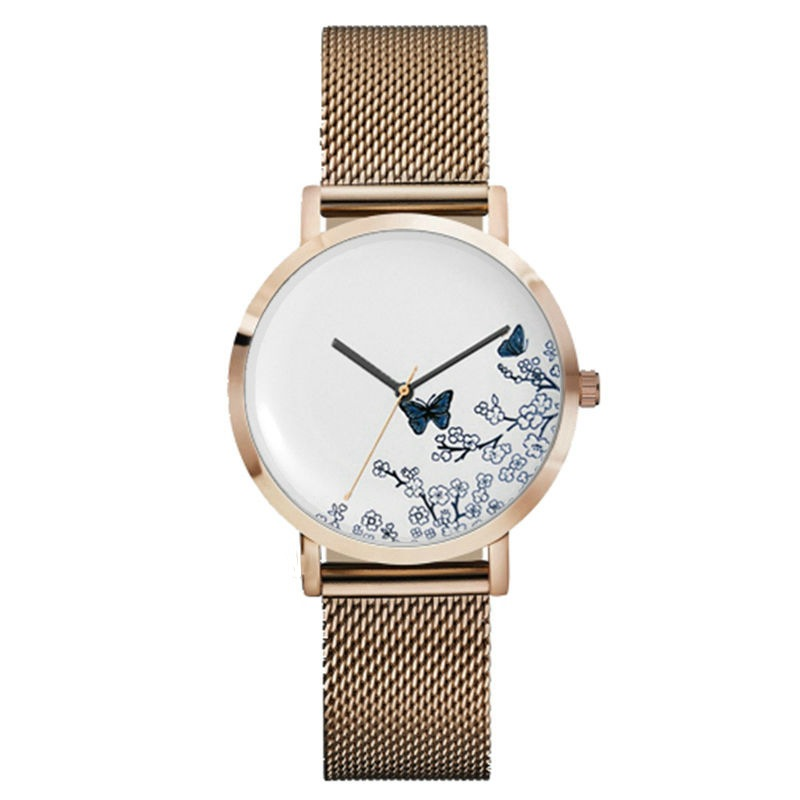 Brand Ladie Watch Fashion Quartz Wristwatch Stainless Steel Luxury Rose Gold Watches Leather Women watch relojes mujer relogio watche women stainless steel band ladies crystal diamond quartz watch luxury rose gold wrist watches relojes mujer