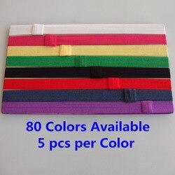 Bandeaux interchangeables 5/8 ''pli sur élastique bande de cheveux FOE bandeau cheveux élastique MOQ est 5 pièces par couleur 80 couleurs disponibles
