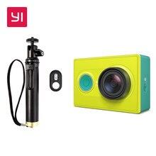 YI 16.0MP Cámara de Acción 1080 P Verde Lima 155 grados lente Ultra gran Angular de Reducción de Ruido 3D WiFi Mini Deportes cámara