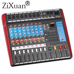 8 Channels (Mono) Mixing Console with Bluetooth Record 99 DSP effect USB Function Professional Audio Mixer