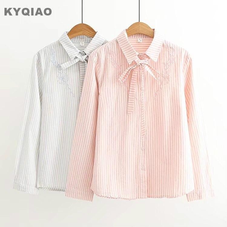 0bad5d9114 Compra pink stripe long blouse y disfruta del envío gratuito en  AliExpress.com
