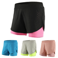 Mens and Womens Quick-Drying Breathable Double-layer Sports Running Shorts Pants for Marathon Fitness Size S to XXXL