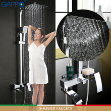 GAPPO shower faucets shower mixer bathroom faucet chrome shower mixer tap shower waterfall bathtub faucets душ gappo g2414