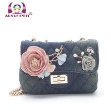 2017 Floral Perle Messenger Frauen Marke Gesteppte Leder Handtasche Kette Schulter Plaid Frauen Flap Crossbody Tasche B022