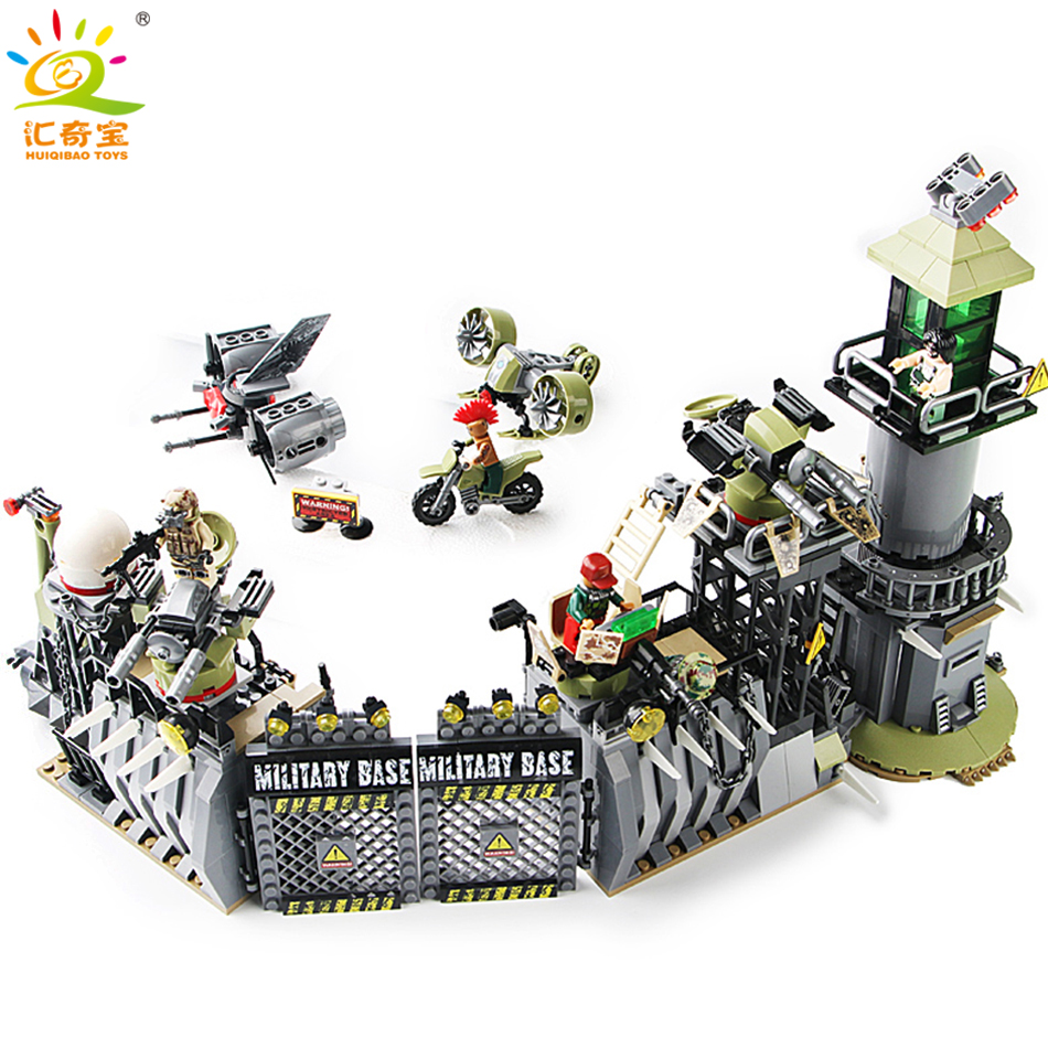 761Pcs Military Defensive Wall Soldiers Weapons Building Blocks Set compatible Legoed Army World War 2 Figures DIY Children Toys ...
