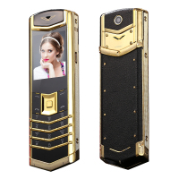 2014 New Bar Luxury Long Standby Mutiple Languages Brand Stainless Steel Metal Quad Band Mobile Phone