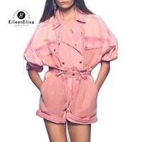 Розовый женский комплект из 2 предметов, куртка с длинными рукавами и шорты, женские повседневные брюки, летний женский костюм