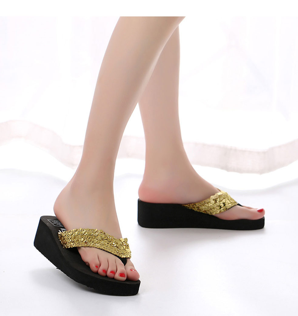 387a0398498450 KESMALL Summer Non Slip Bling Sandals Female Slippers For Women Flip ...