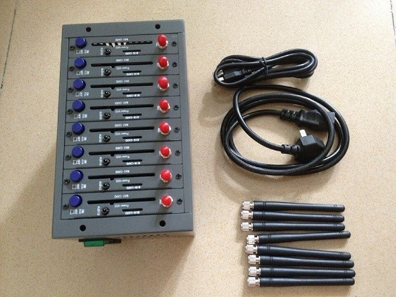 Hotselling 8 ports bulk sms gsm gprs modem pool with wavecom module