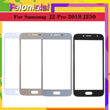 10pcs\lot Touch Screen outer Front Glass Panel For Samsung Galaxy J2 Pro 2018 J250 J250M J250G Grand Prime LCD Outer Lens