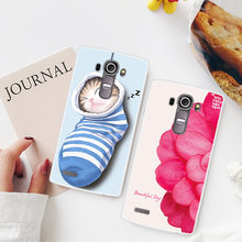 For LG G4 G 4 H815 H818 Case Animal Flowers Painted Back Cover TPU Soft Silicone Case For LG G4 Coque Capa Funda(China)