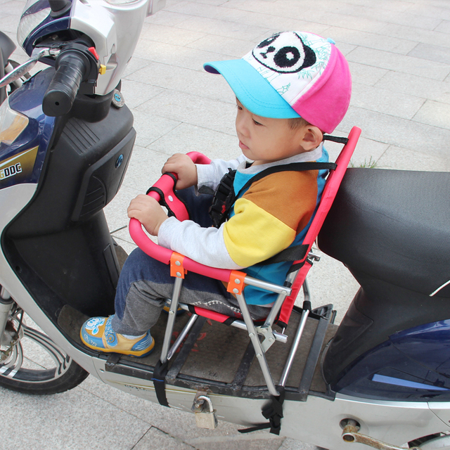 Portable Removable Motorcycle Child Folding Seat Electric Vehicle Design More Secure Safety Accessories Free Shopping