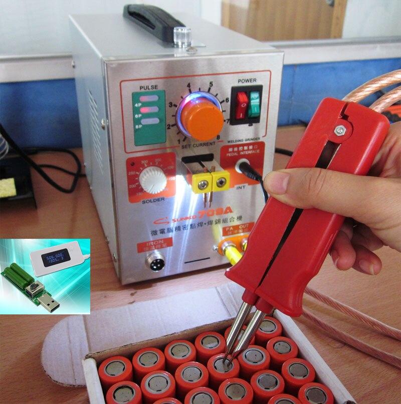1.9kw LED Pulse Battery Spot Welder ,709a,  Spot Welding Machine for 18650  battery pack, Spot welding+1 set Tester new 1 9kw battery spot welder welding machine for notebook mobile phone 18650 16340 14500 battery pack 110v 220v