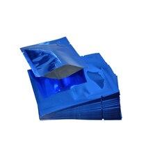 12*18cm Open Top Aluminum Foil Mylar Bag 100pcs/lot Tea Food Package Packaging Pouch Mask Vacum Seal Pack