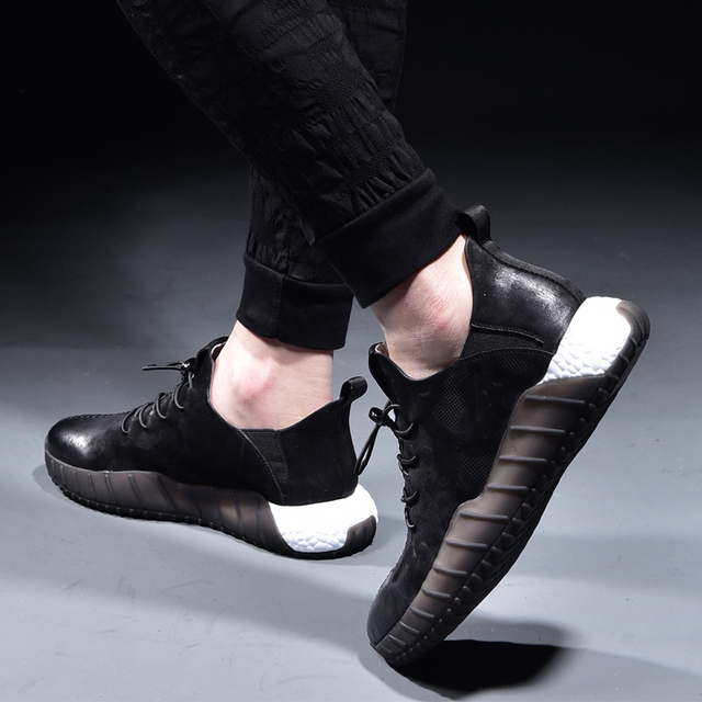 spring and autumn men autumn winter British retro men shoes male leather shoes cowhide all-match breathable sneaker