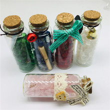 new style!!!  Natural crystal kinds of stone tomalin feng shui purification wishing bottle
