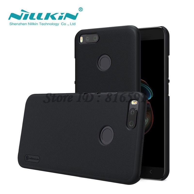 Pour Xiaomi Mi A1 étui Nillkin givré bouclier dur couverture arrière pour Xiaomi Mi A1 / 5X / MiA1 / Mi5X cadeau support pour téléphone